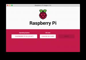 RaspberryPi Imager の画面
